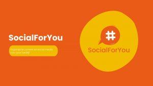 Socialforyou is geboren